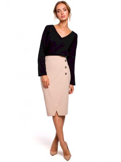 Tužková sukně s ozdobnými knoflíky MOE M454