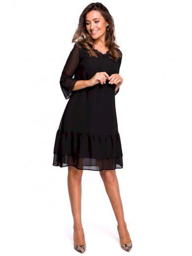 Šifonové nabírané boho šaty STYLE S160