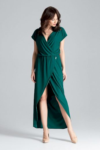 Zavinovací šaty s gumičkou v pase L033 LENITIF