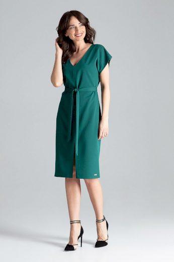 Pouzdrové šaty s rozparkem L032 LENITIF