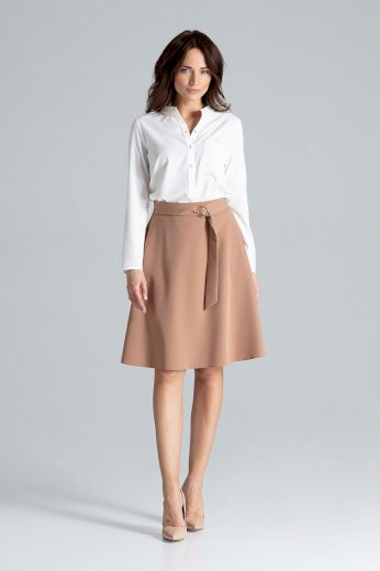 Áčková sukně s opaskem L038 LENITIF
