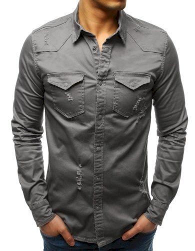 Pánská košile šedá