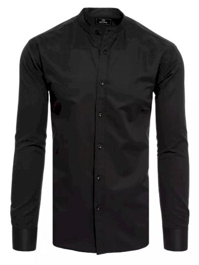 Pánská košile v černé barvě Dstreet