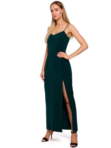 Maxi večerní šaty s vysokým rozparkem MOE M485