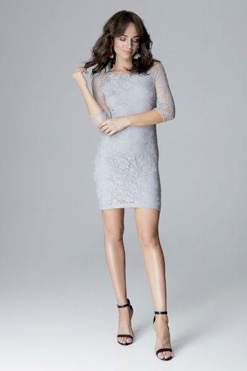Přiléhavé krajkové šaty L017 LENITIF