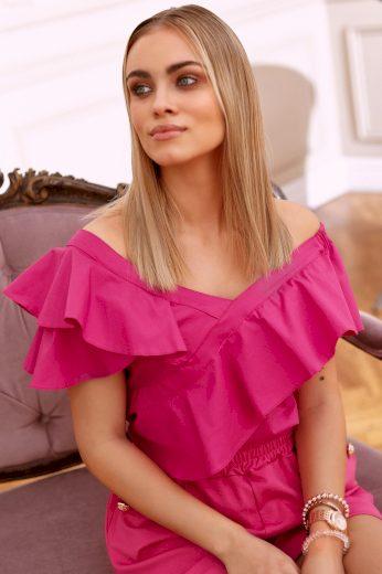 Elegantní dámská halenka s volánky ve španělském stylu