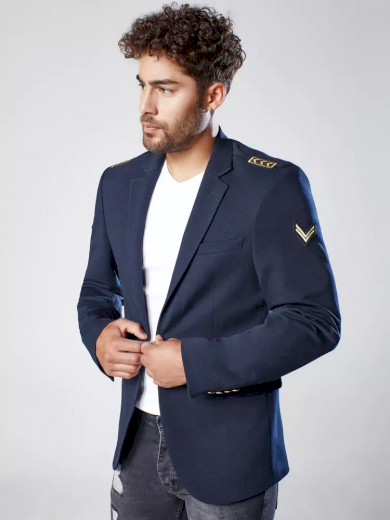 Pánské sako v tmavě modré barvě Dstreet MX0537