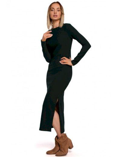 Maxi šaty s rozparkem na noze MOE M544