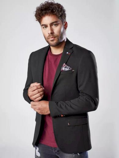 Pánské sako v černé barvě Dstreet MX0541