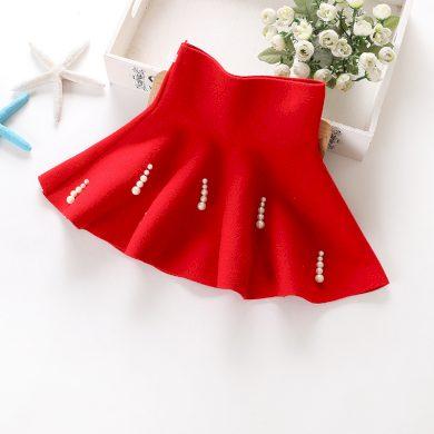 Dívčí sukně s vysokým pasem a perličkami - 2 barvy FashionEU