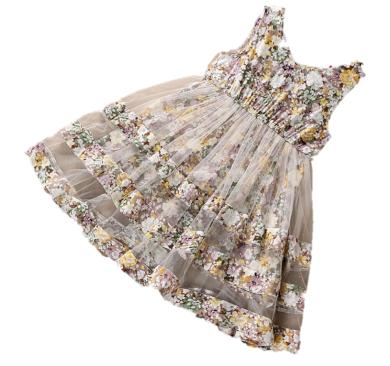 Dívčí šaty s květinami - 3 barvy FashionEU