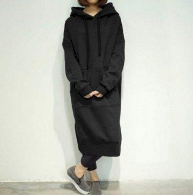 Dámská dlouhá mikina s kapucí FashionEU