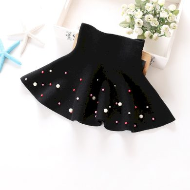 Dívčí sukně s vysokým pasem a barevnými perlami FashionEU
