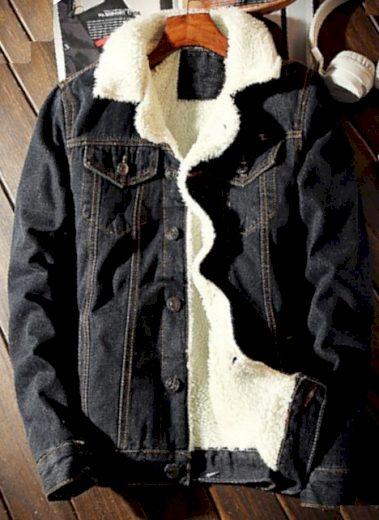 Pánská džínová bunda s kožíškem - 3 barvy FashionEU