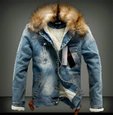 Pánská džínová bunda s kapucí - 2 barvy FashionEU