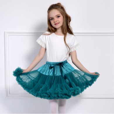 Moderní dívčí sukně s vysokým pasem - Azurová FashionEU