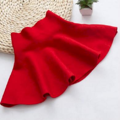 Luxusní dívčí sukně s vysokým pasem - Červená FashionEU
