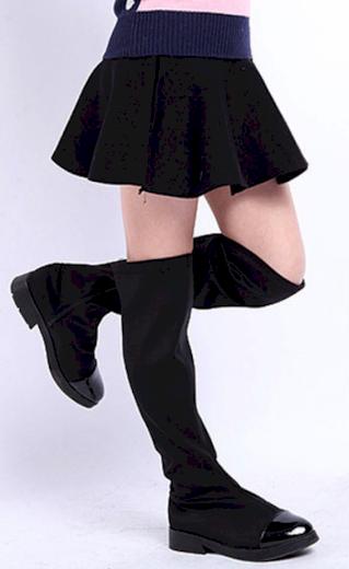 Luxusní dívčí sukně s vysokým pasem - Černá FashionEU