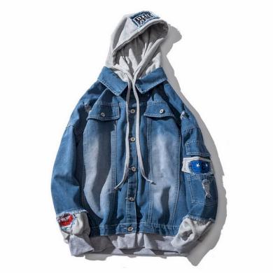 Pánská džínová bunda s kapucí A1489 FashionEU
