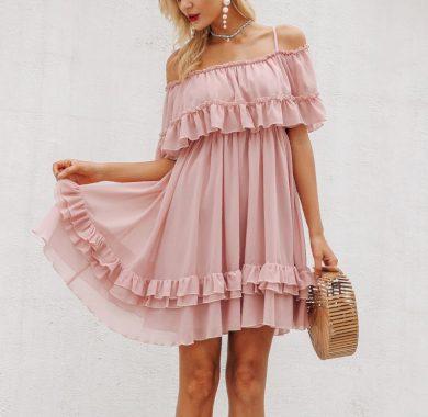 Dámské šaty s volánky FashionEU
