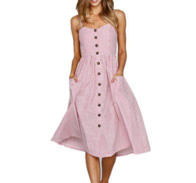 Dámské letní šaty na ramínka FashionEU