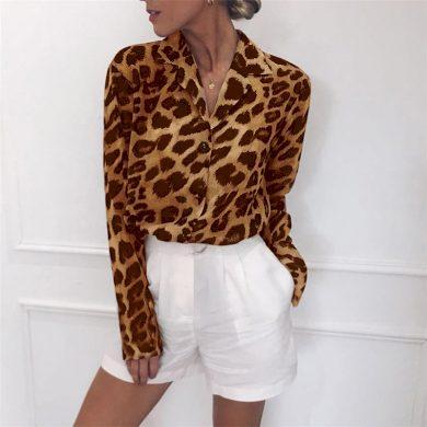Dámská leopardí košile FashionEU