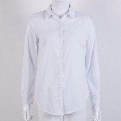 Dámská bílá košile s dlouhým rukávem Eduarda FashionEU