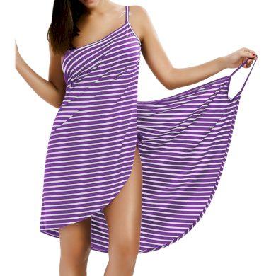 Pruhované plážové šaty FashionEU