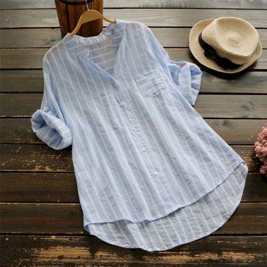 Dámská pruhovaná košile Nina FashionEU