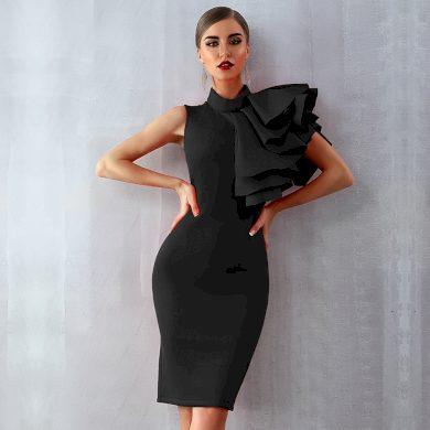 Pouzdrové šaty se stojáčkem FashionEU