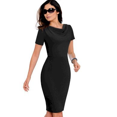 Pouzdrové šaty s vodou ve výstřihu FashionEU