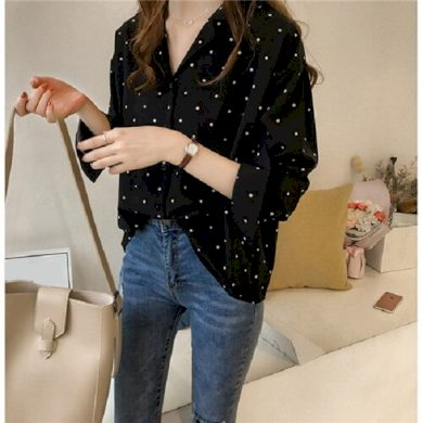 Dámská puntíkovaná košile FashionEU