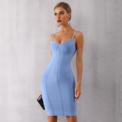 Pouzdrové šaty na ramínka FashionEU