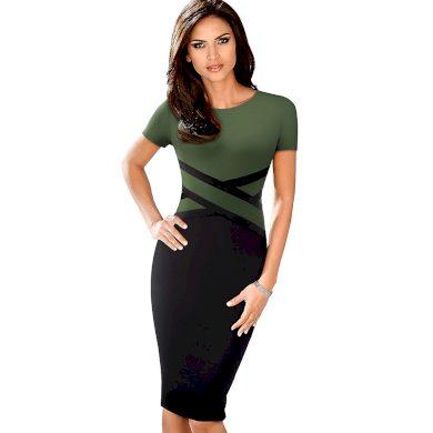 Pouzdrové šaty s krátkým rukávem FashionEU