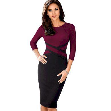 Pouzdrové šaty s dlouhým rukávem FashionEU