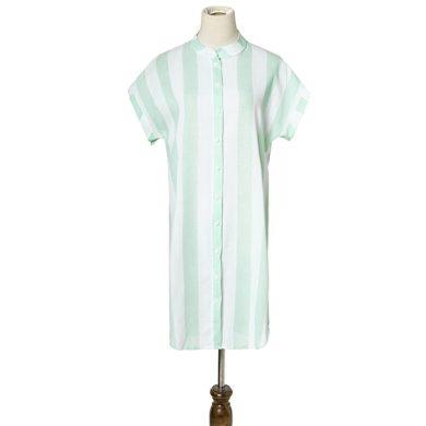 Pruhované košilové mini šaty FashionEU