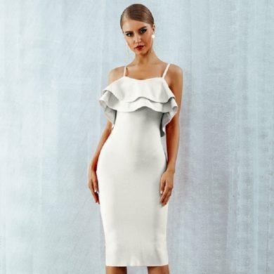 Večerní šaty s volánem FashionEU