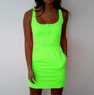Letní šaty na ramínka FashionEU