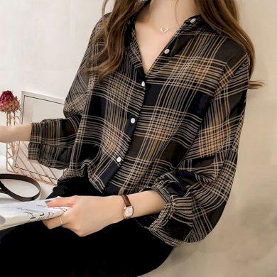 Dámská volná košile se vzorem A544 FashionEU