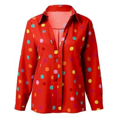 Dámská halenka s barevnými puntíky FashionEU