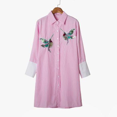 Dámská dlouhá košile s kolibříkem FashionEU