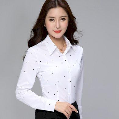Dámská bílá košile s potiskem FashionEU