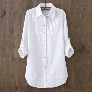 Dámská dlouhá košile bílá FashionEU