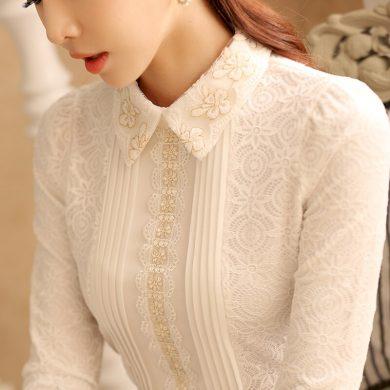 Elegantní halenka s límečkem FashionEU