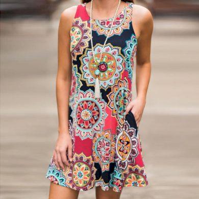 Letní Boho šaty FashionEU
