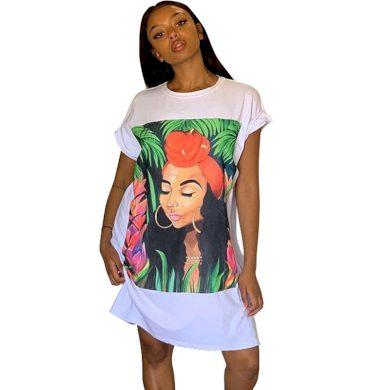 Tričkové šaty FashionEU