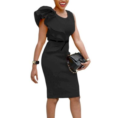 Pouzdrové šaty s volánem FashionEU