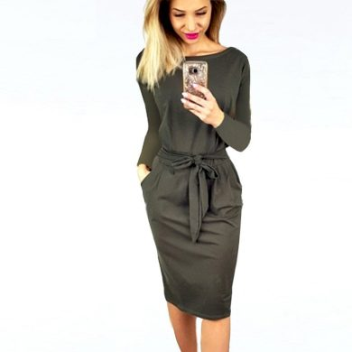 Podzimní pouzdrové šaty FashionEU
