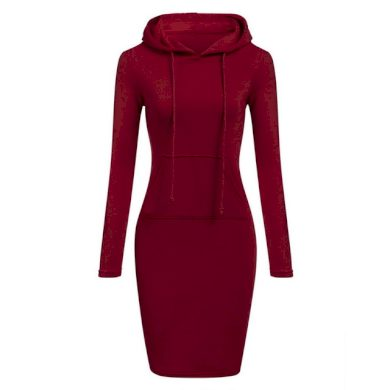 Mikinové šaty s kapucí FashionEU