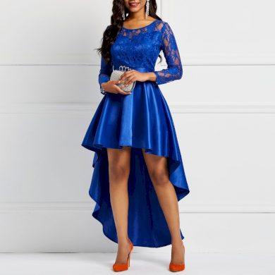 Společenské šaty s asymetrickou sukní FashionEU